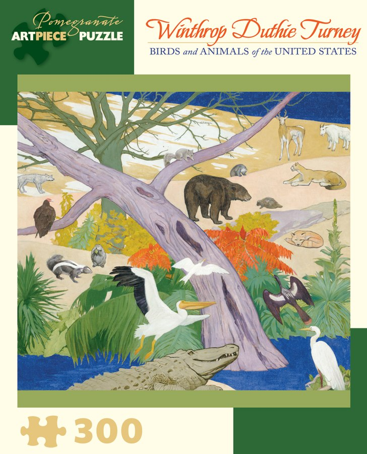 Turney: Birds and Animals - 300pc Jigsaw Puzzle by Pomegranate