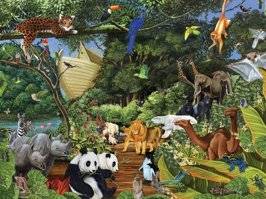 Noah's Gathering - 350pc Jigsaw Puzzle by Cobble Hill  			  					NEW