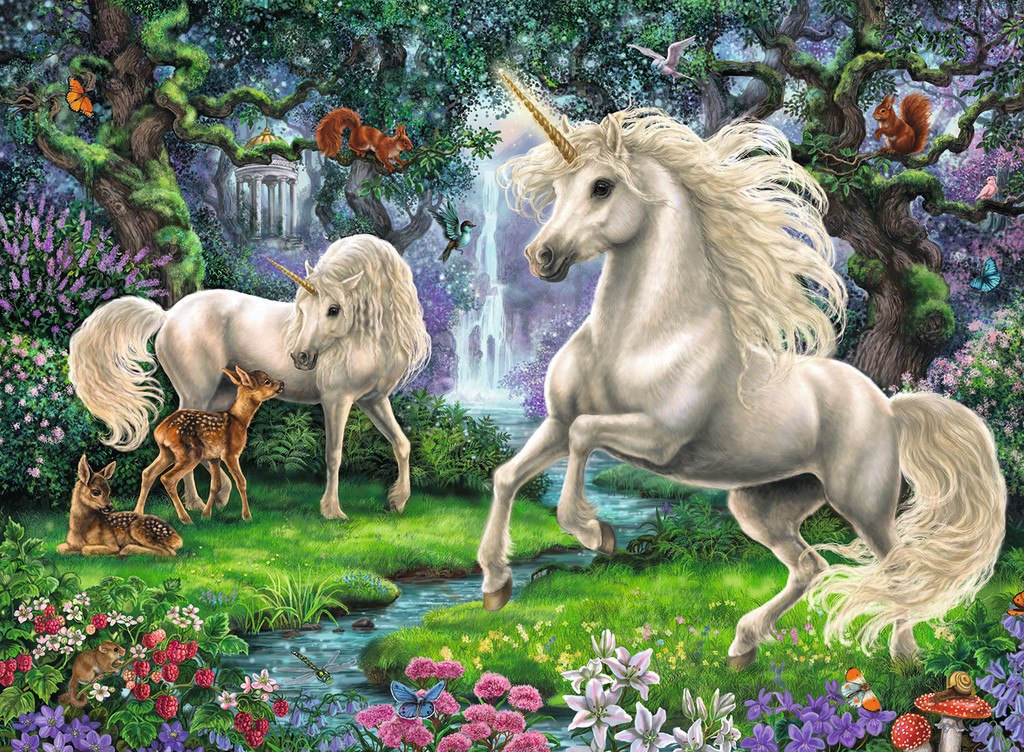 Mystical Unicorns - 200pc Jigsaw Puzzle By Ravensburger  			  					NEW