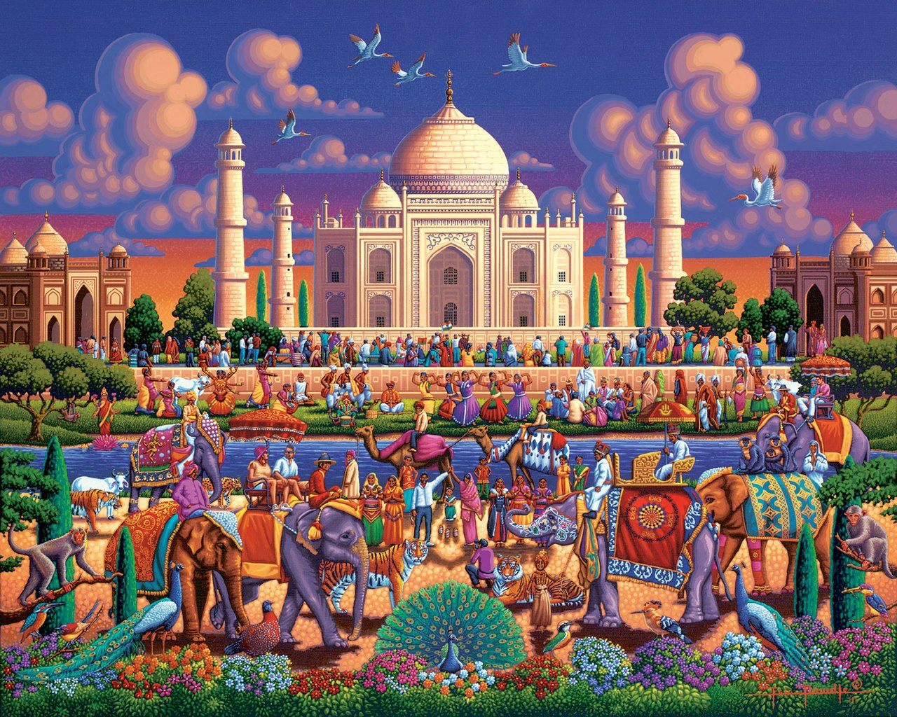 Taj Mahal - 500pc Jigsaw Puzzle by Dowdle  			  					NEW