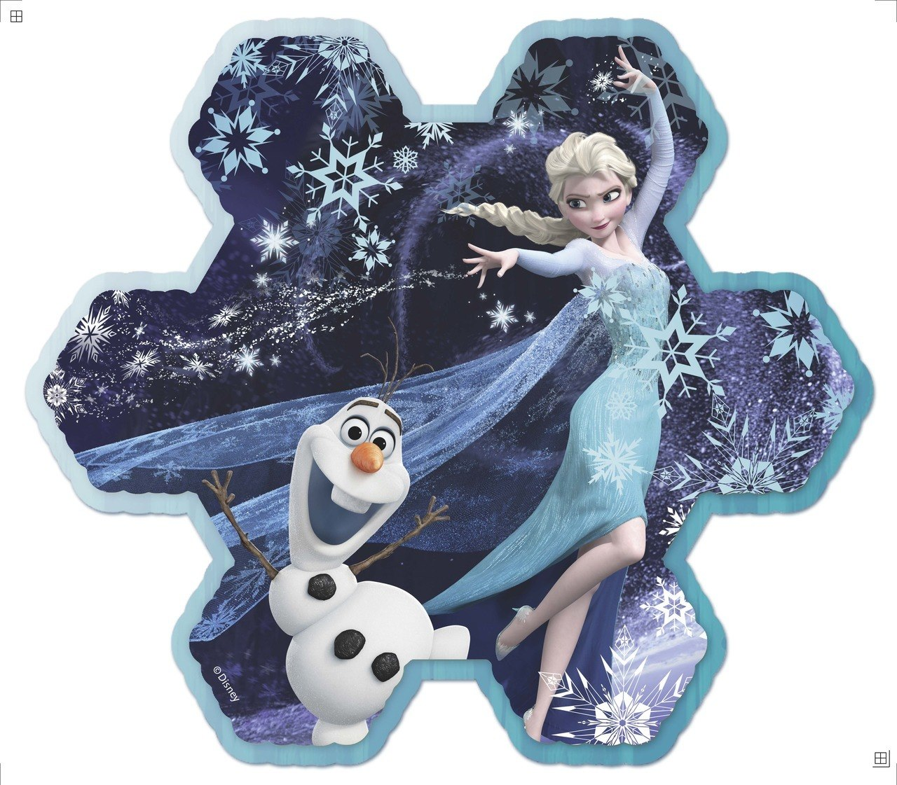 Frozen: Elsa's Snowflake - 100pc Shaped Glitter Puzzle by Ravensburger
