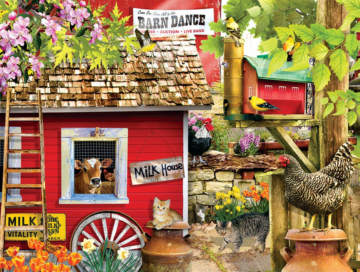 The Milk House - 1000pc Jigsaw Puzzle By Sunsout  			  					NEW