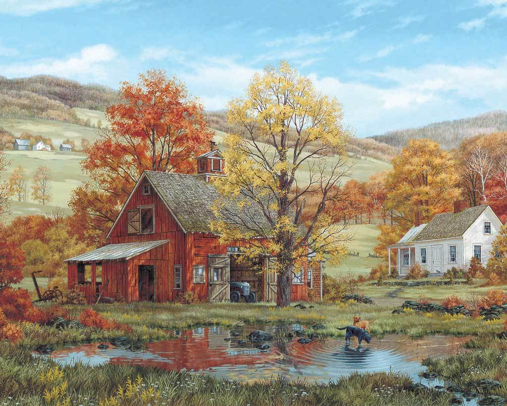Friends in Autumn - 1000pc Jigsaw Puzzle by White Mountain