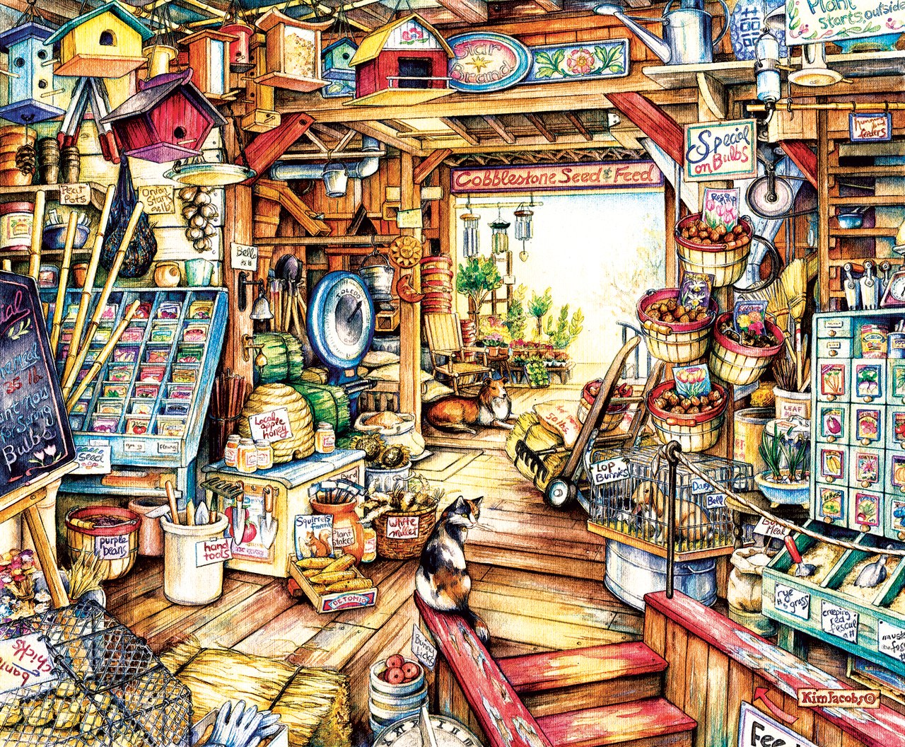Seed and Feed - 1000pc Jigsaw Puzzle by Sunsout  			  					NEW