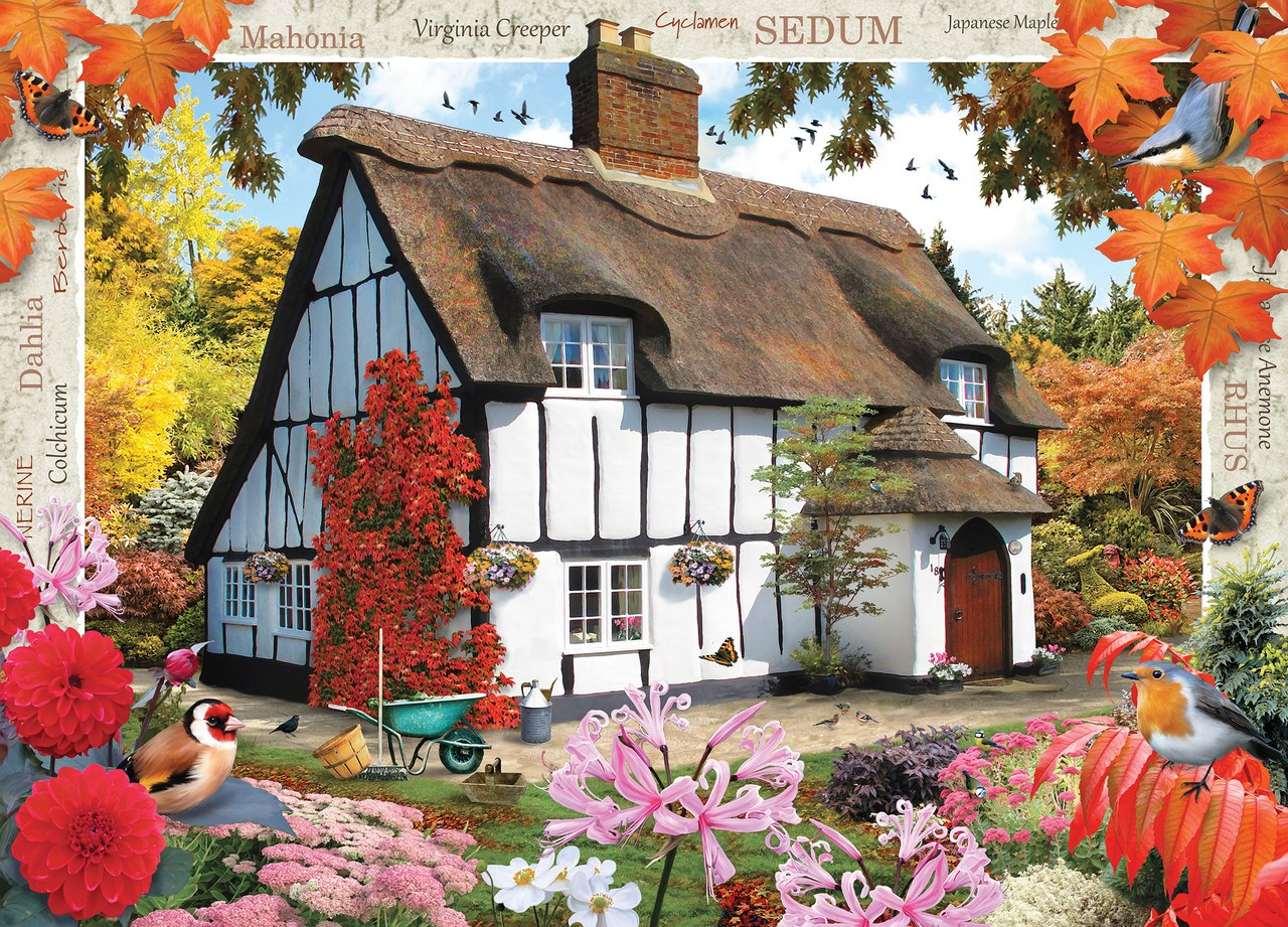 Autumn Cottage - 1000pc Jigsaw Puzzle by Masterpieces  			  					NEW