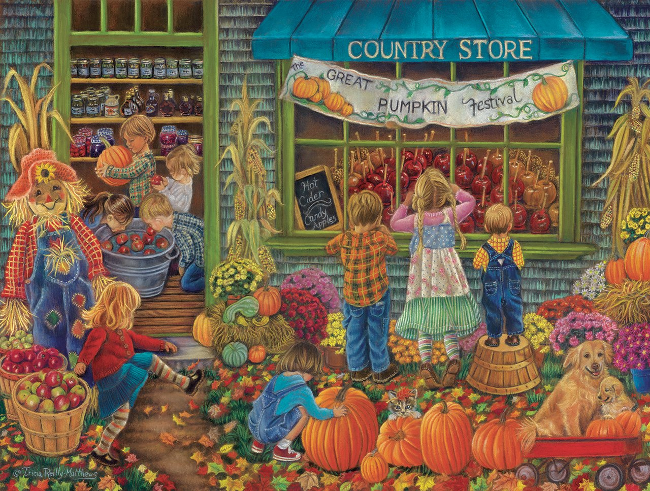 Pumpkin Festival - 300pc Jigsaw Puzzle By Sunsout  			  					NEW