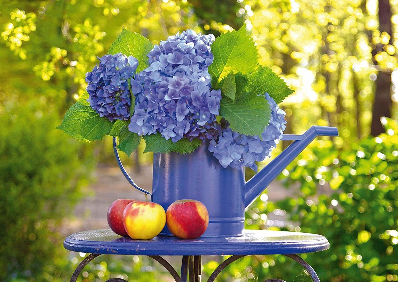 Watering Can with Hydrangea - 500pc Jigsaw Puzzle by Schmidt  			  					NEW