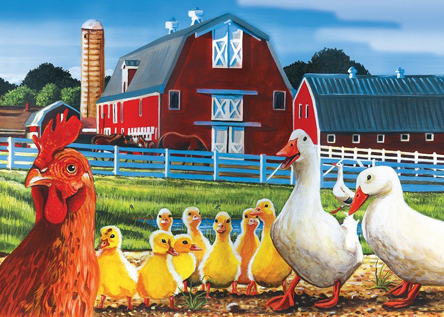 Dwight's Ducks - 35pc Tray Puzzle by Cobble Hill