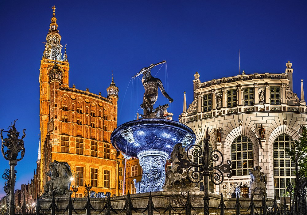 Gdansk, Neptune Fountain - 500pc Jigsaw Puzzle by Castorland  			  					NEW