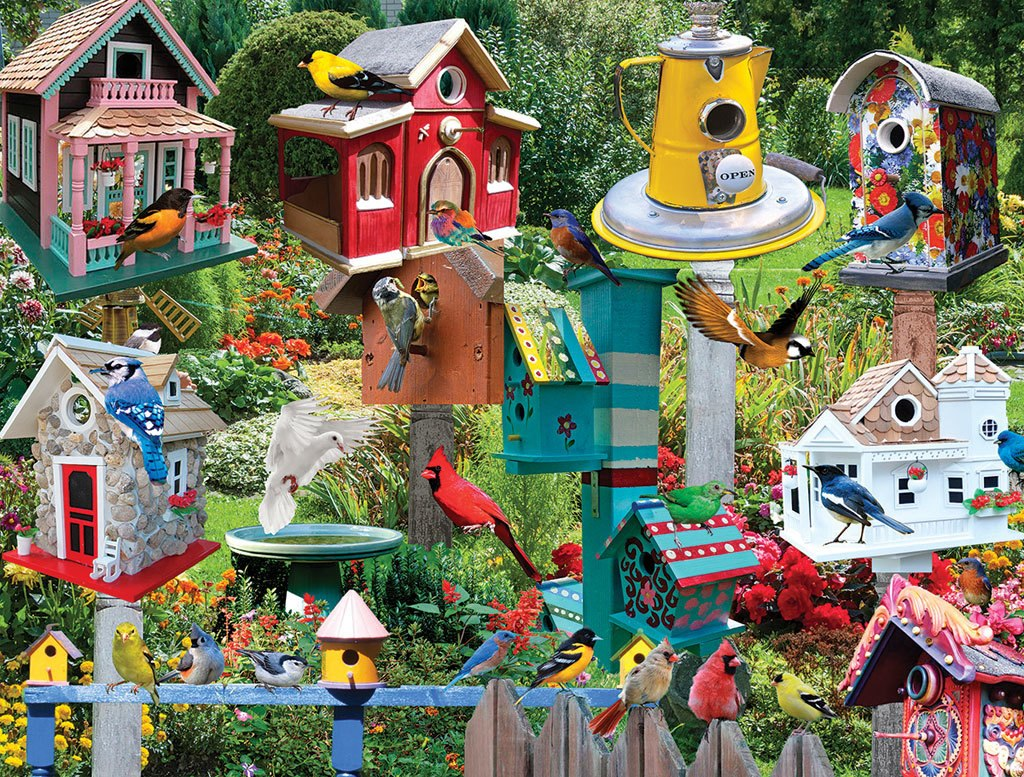 Birdhouse Village - 550pc Jigsaw Puzzle by White Mountain