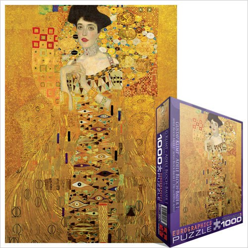 Klimt: Adele Bloch-Bauer I - 1000pc Jigsaw Puzzle by Eurographics