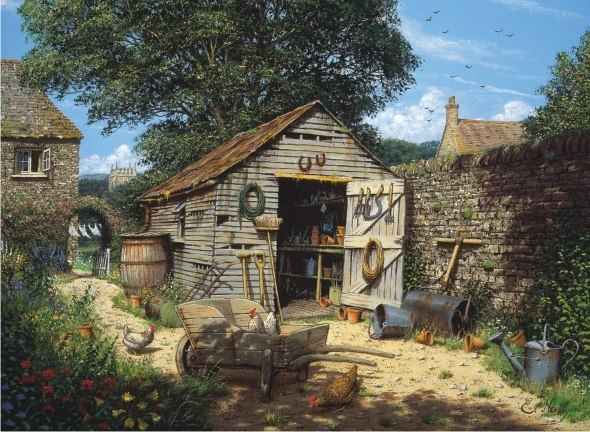 Potting Shed - 1000pc Jigsaw Puzzle by Anatolian