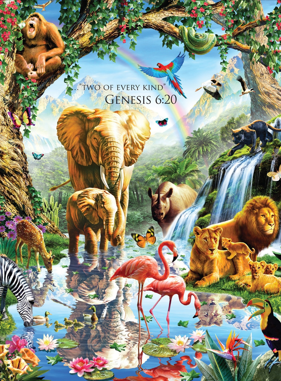Jungle Lake - Inspirations - 1000pc Jigsaw Puzzle by Lafayette Puzzle Factory