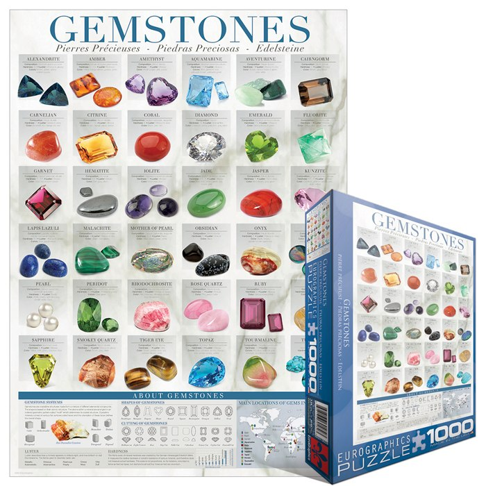Gemstones - 1000pc Jigsaw Puzzle by Eurographics