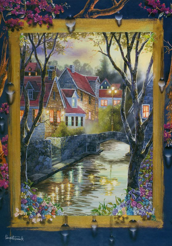 Town Of Twilight - 1000pc Jigsaw Puzzle By Holdson
