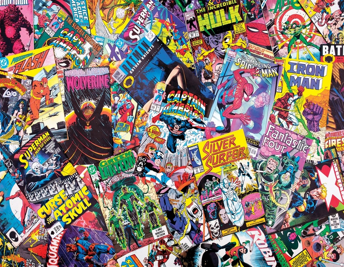 Comic Book Galore - 1000pc Jigsaw Puzzle By Springbok  			  					NEW