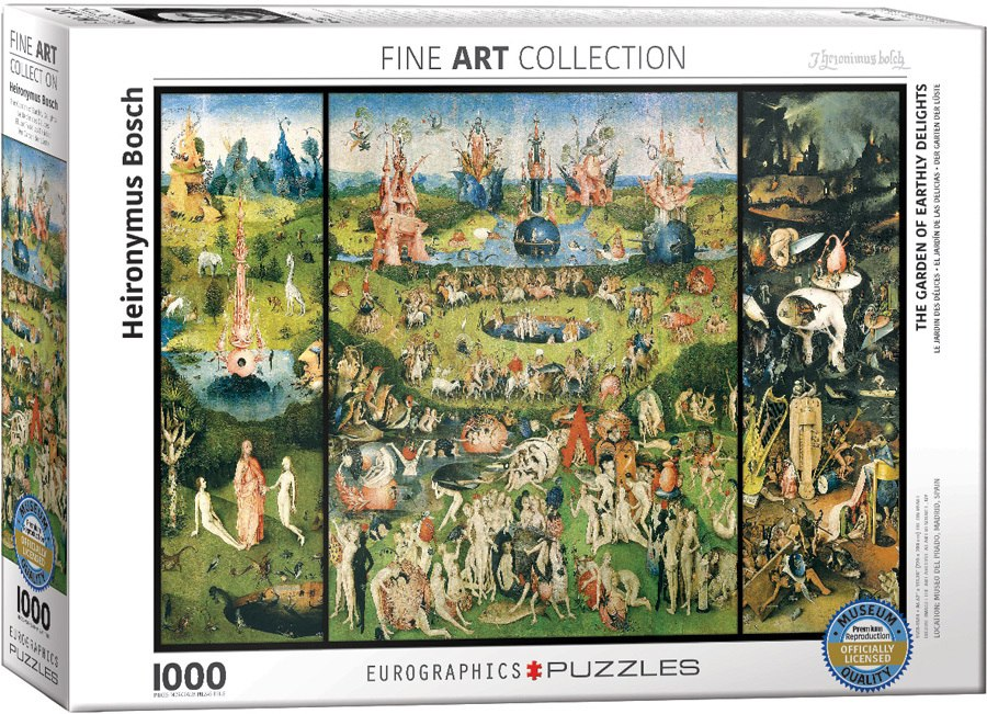 The Garden of Earthly Delights / Hieronimous Bosch - 1000pc Jigsaw Puzzle by Eurographics