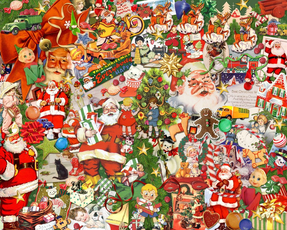 Vintage Christmas - 1000pc Jigsaw Puzzle by Vermont Christmas Company