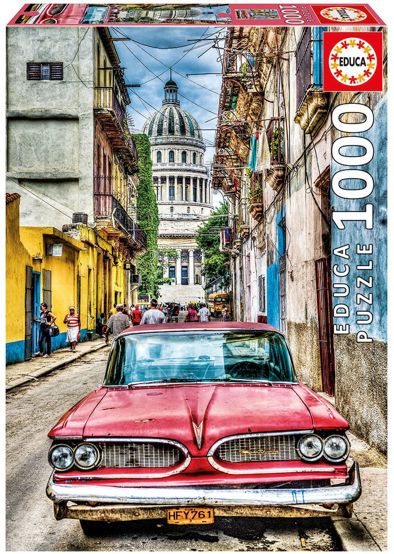 Vintage Car In Old Havana - 1000pc Jigsaw Puzzle By Educa  			  					NEW