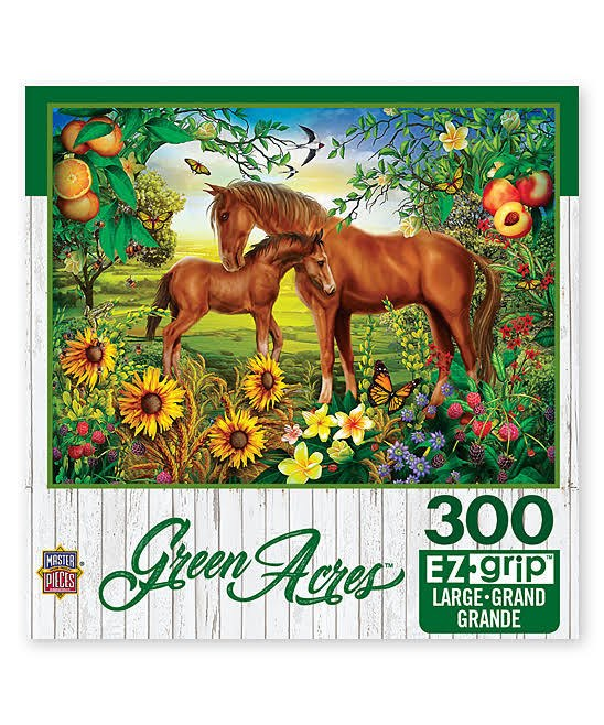 Green Acres: Neighs & Nuzzles - 300pc EzGrip Jigsaw Puzzle by Masterpieces  			  					NEW