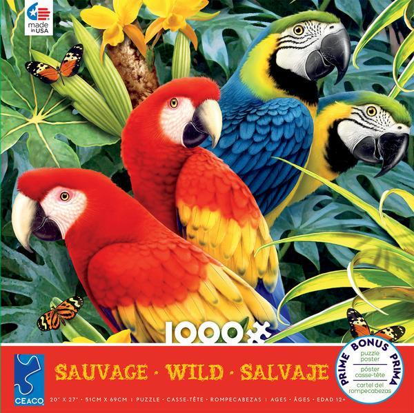 Wild: Majestic Macaws - 1000pc Jigsaw Puzzle by Ceaco  			  					NEW - image 1