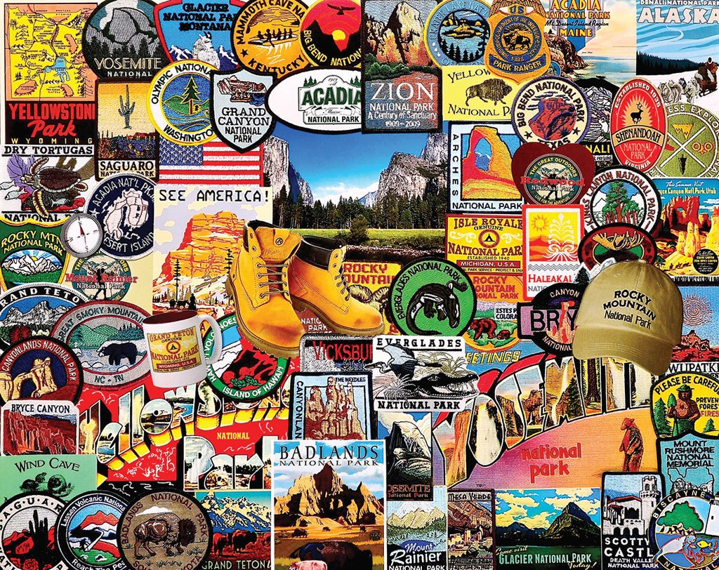 National Park Badges - 1000pc Jigsaw Puzzle by White Mountain