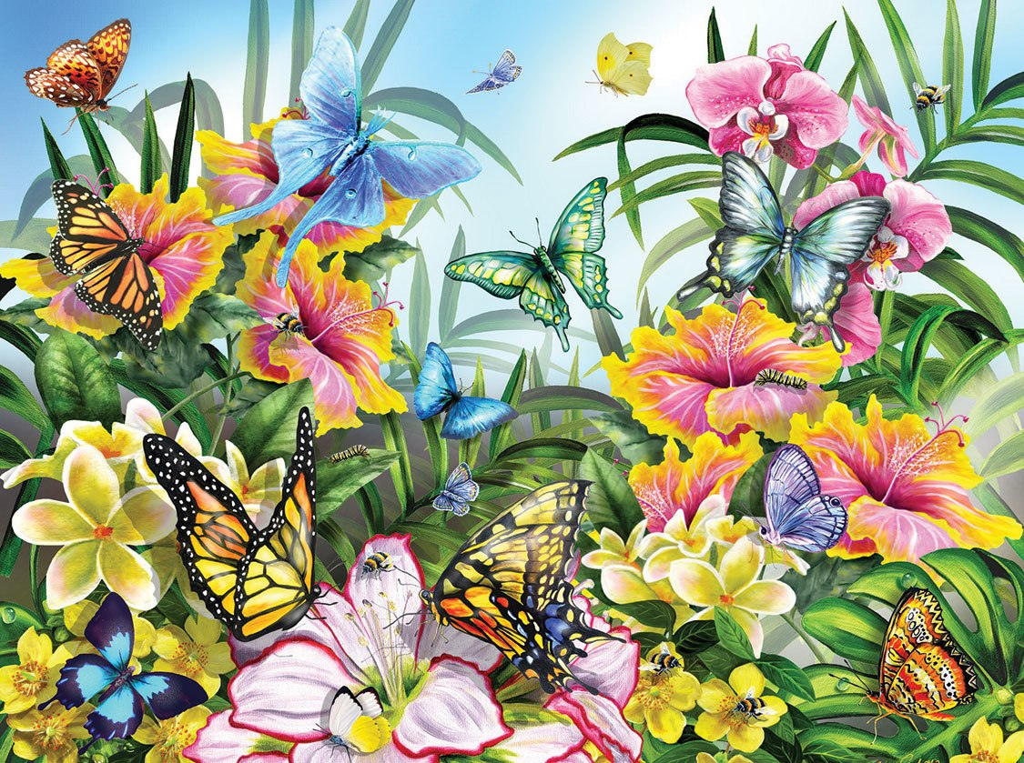 Garden Colors - 1000pc Jigsaw Puzzle by SunsOut