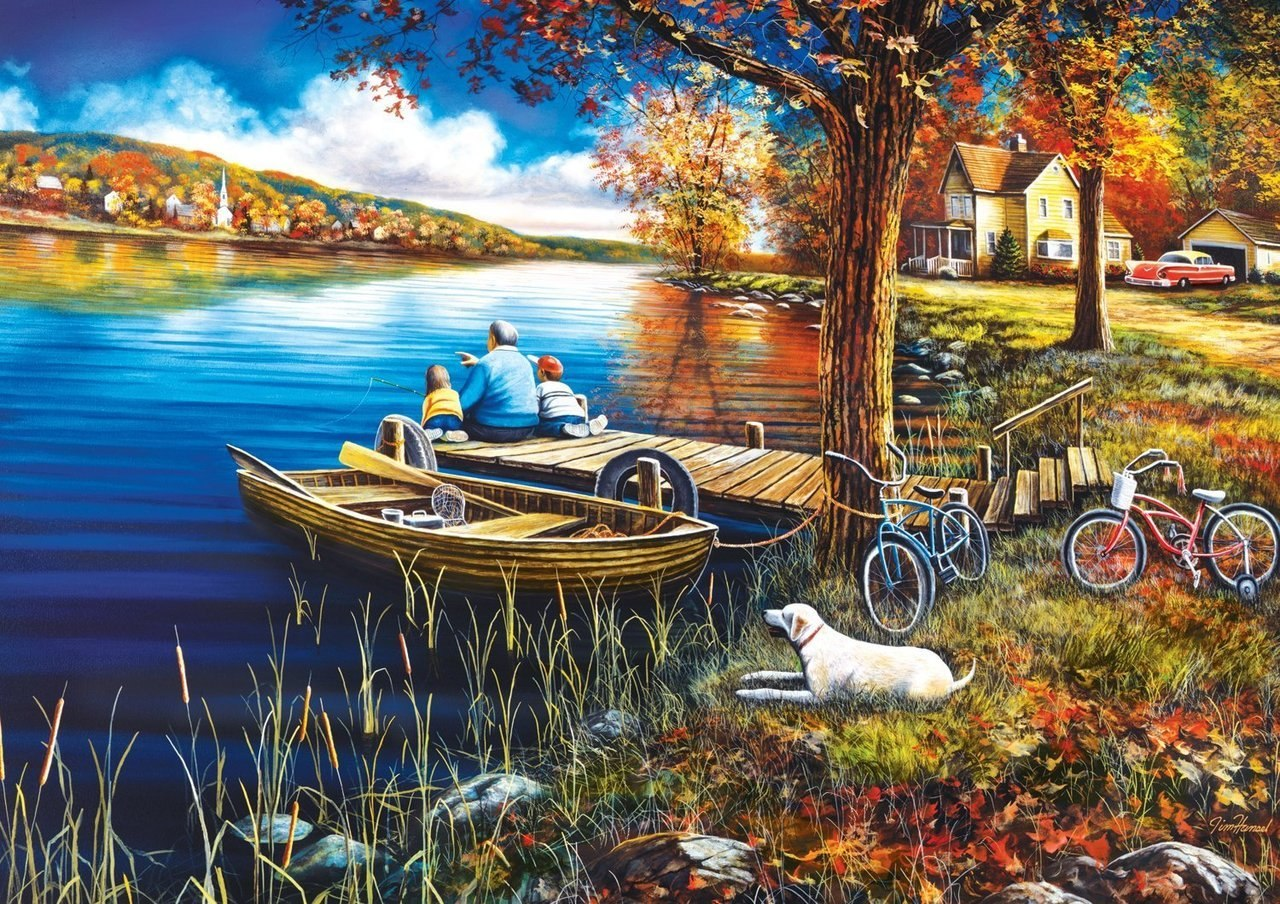 A Day on the Dock - 500pc Jigsaw Puzzle by Buffalo Games