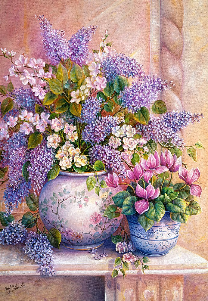 Lilac Flowers - 1500pc Jigsaw Puzzle By Castorland  			  					NEW