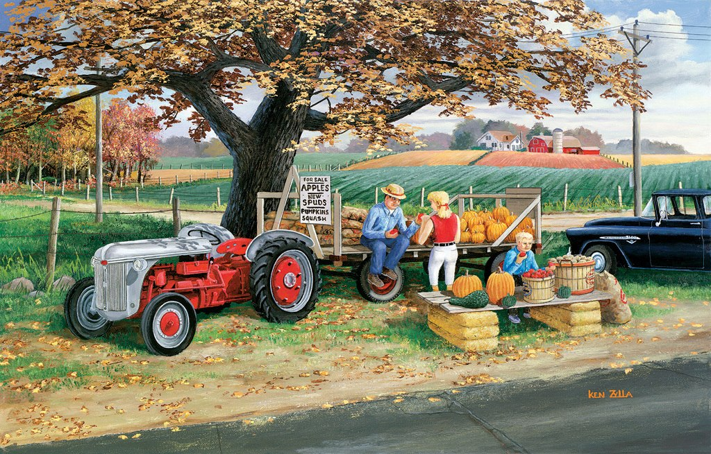 Harvest Time - 1000pc Jigsaw Puzzle by Sunsout