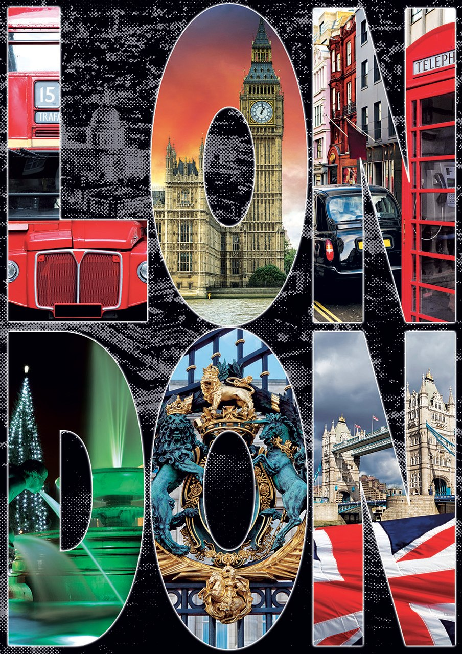 London Collage - 1000pc Jigsaw Puzzle by Educa