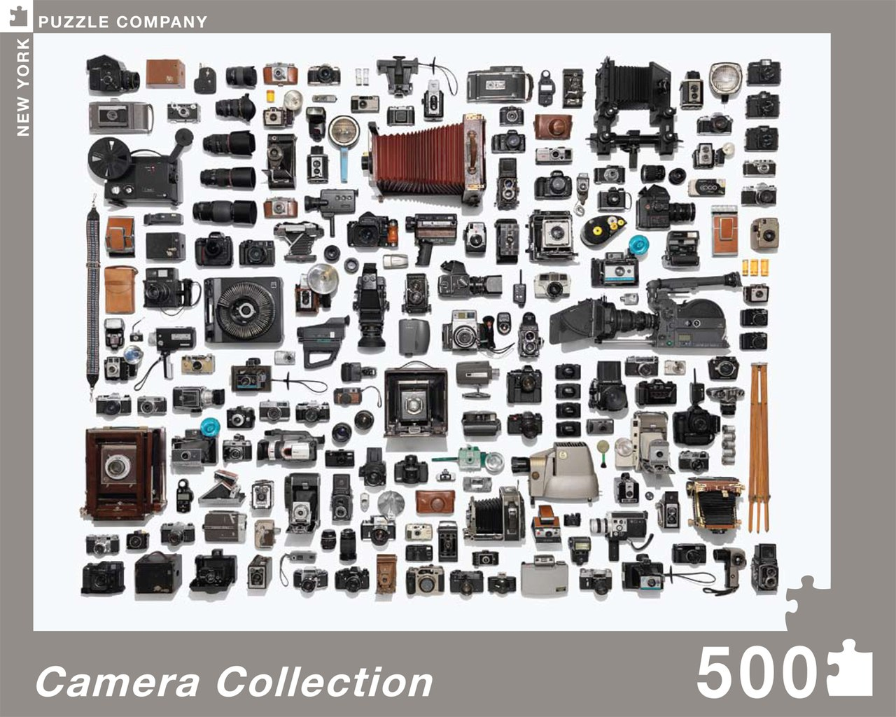 Camera Collection - 500pc Jigsaw Puzzle by New York Puzzle Company