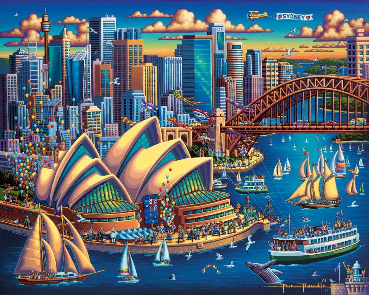 Sydney Opera House - 500pc Jigsaw Puzzle by Dowdle  			  					NEW