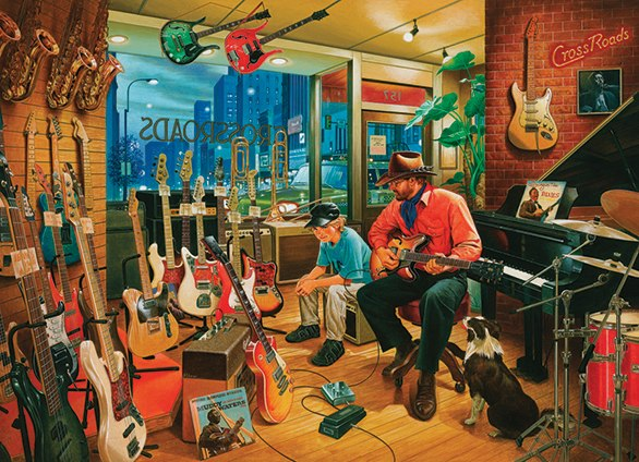Crossroads Music Store - 1000pc Jigsaw Puzzle By Cobble Hill