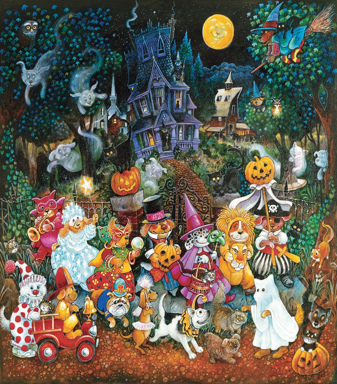 Trick or Treat Dogs - 300pc Jigsaw Puzzle by Sunsout  			  					NEW