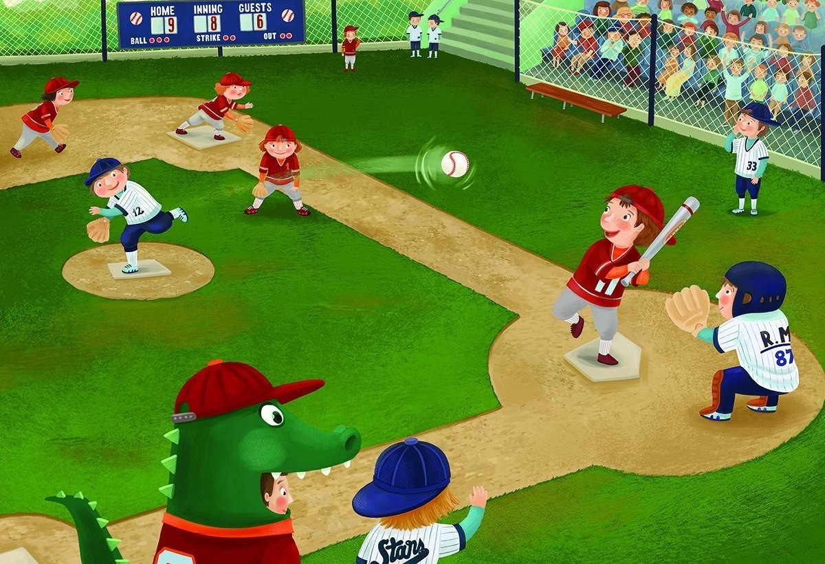 Junior League Baseball - 60pc Jigsaw Puzzle by Eurographics  			  					NEW
