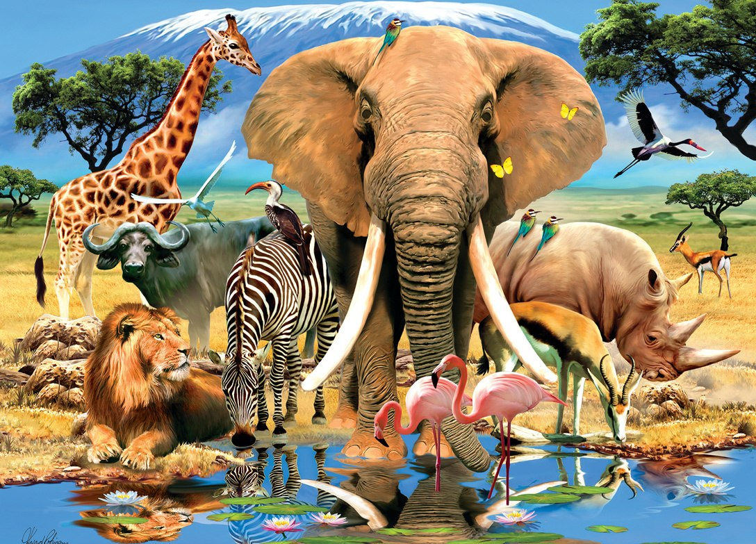 Animal Planet: Safari Adventure - 1000pc Jigsaw Puzzle by Masterpieces