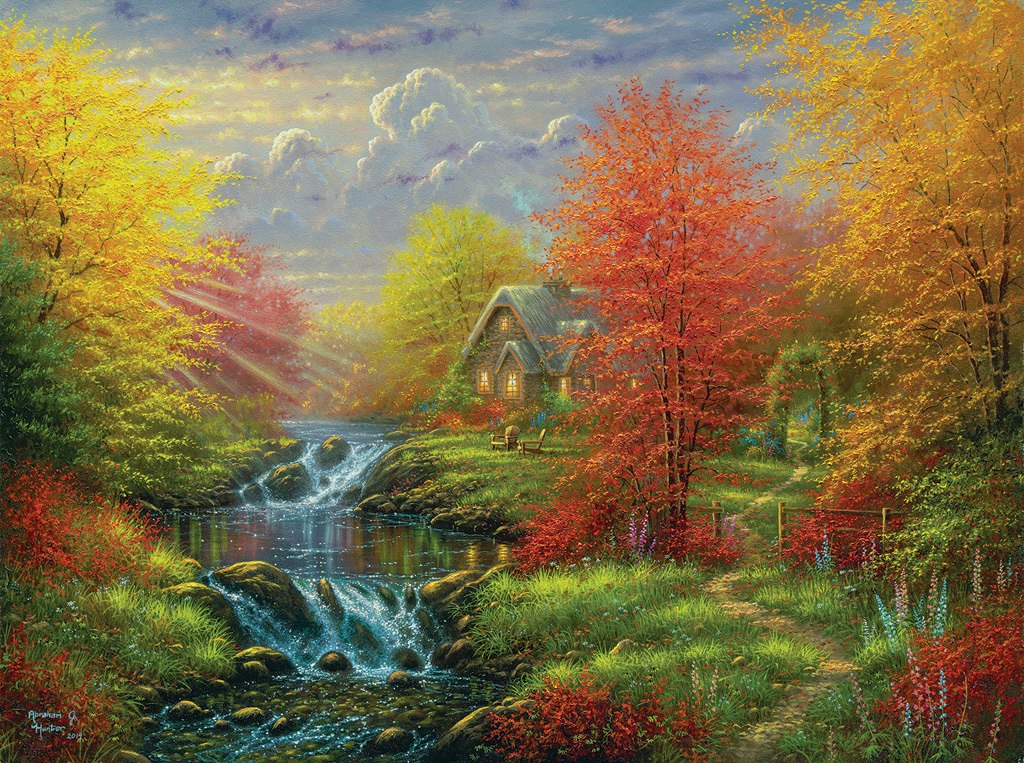 Secluded Cottage - 1000pc Jigsaw Puzzle by SunsOut