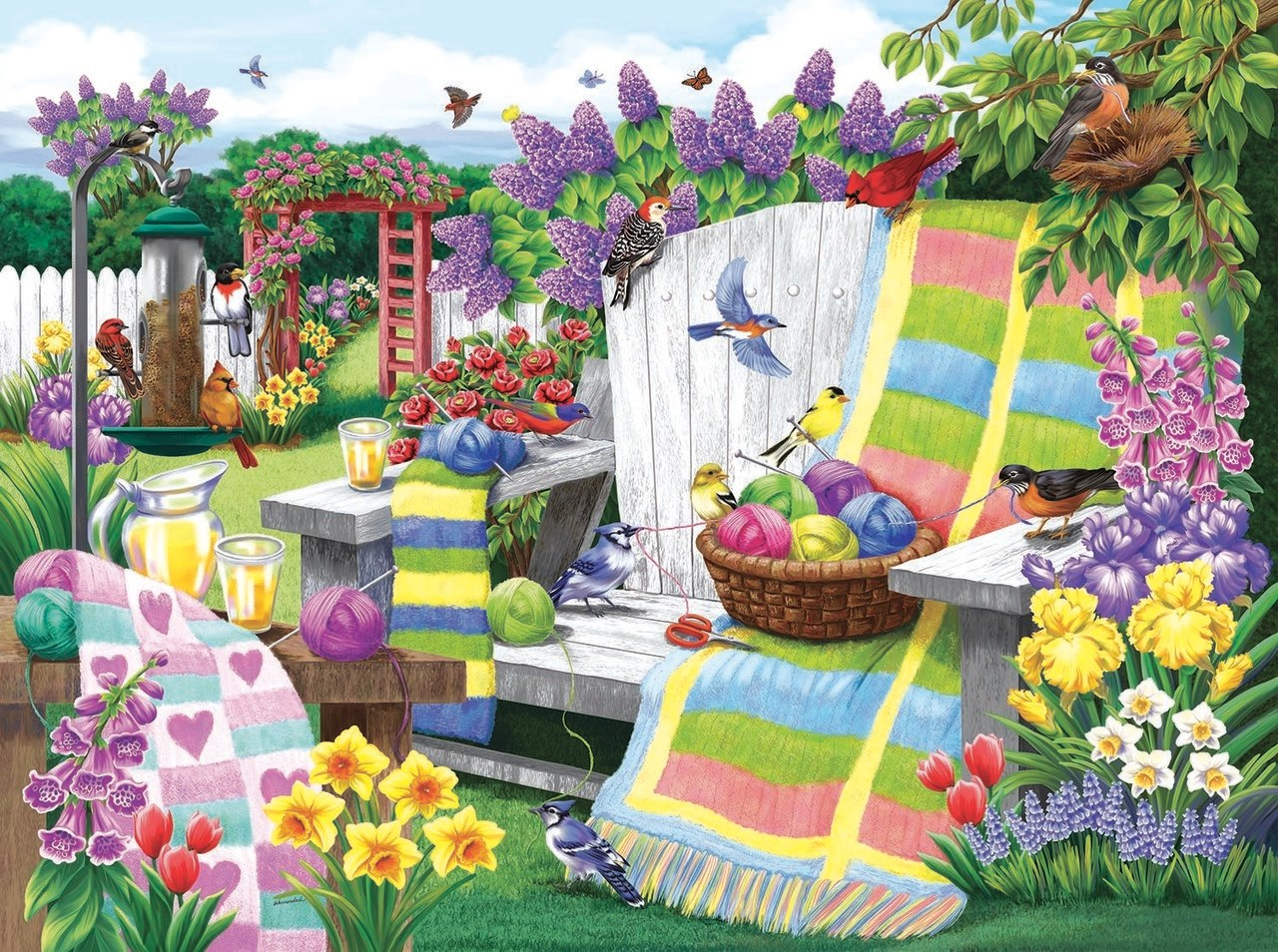 The Many Colors of Spring - 1000pc Jigsaw Puzzle By Sunsout  			  					NEW