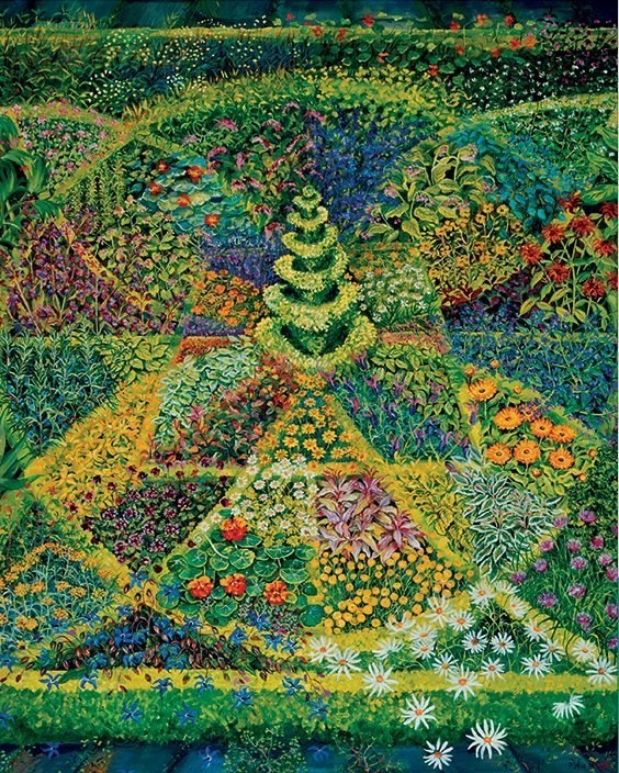Wise: Geometric Herb Garden - 1000pc Jigsaw Puzzle by Pomegranate  			  					NEW