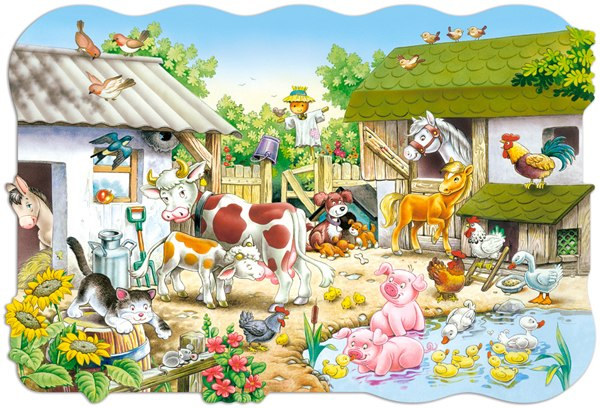 Farm - 20pc Jigsaw Puzzle By Castorland
