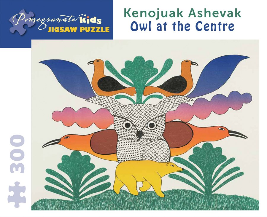 Ashevak: Owl at the Centre - 300pc Jigsaw Puzzle by Pomegranate