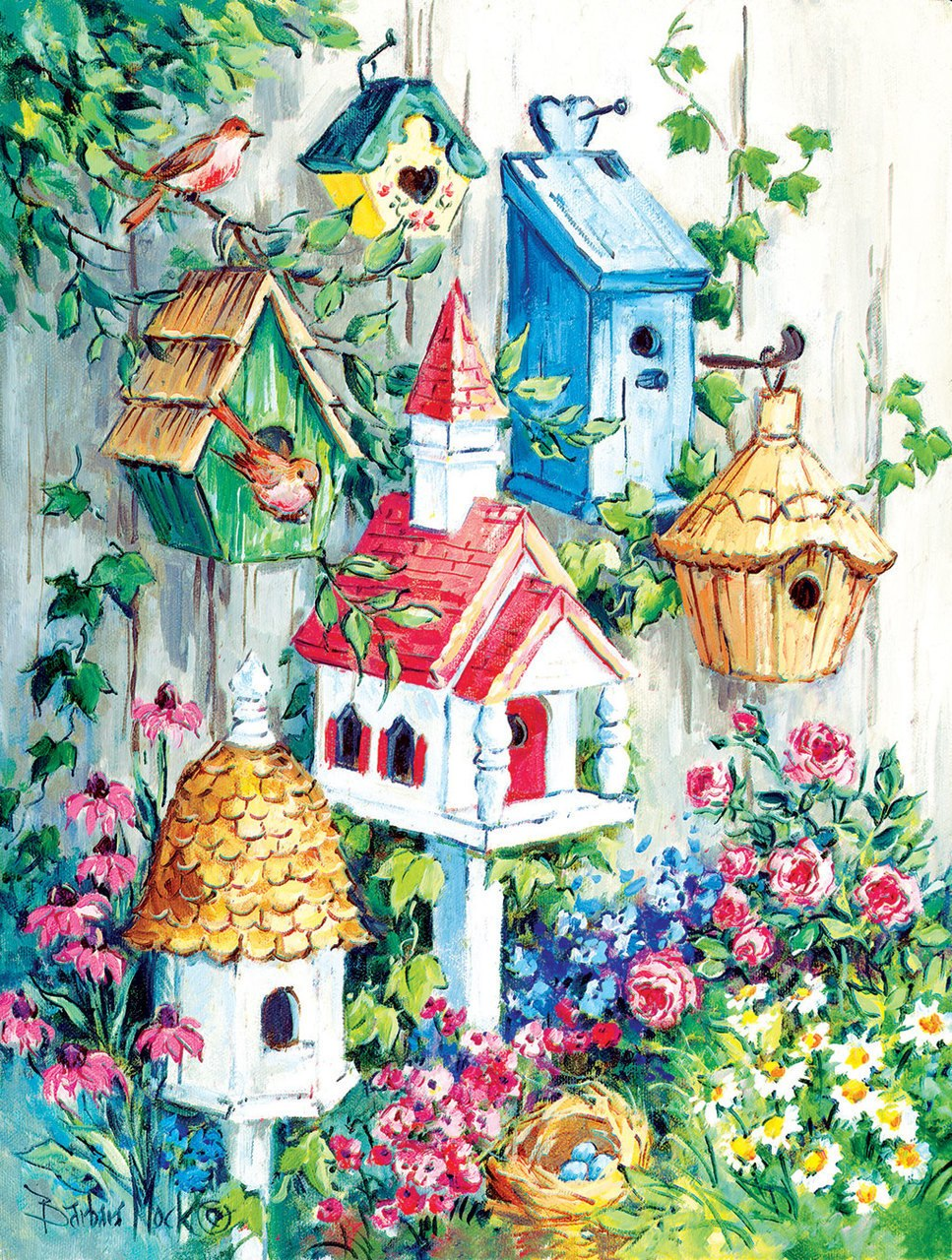Grandma's Birdhouses - 500pc Jigsaw Puzzle by Sunsout