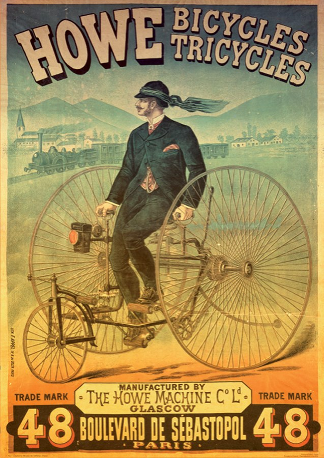 Howe Bicycles Vintage Poster  - 1000pc Jigsaw Puzzle by D-Toys