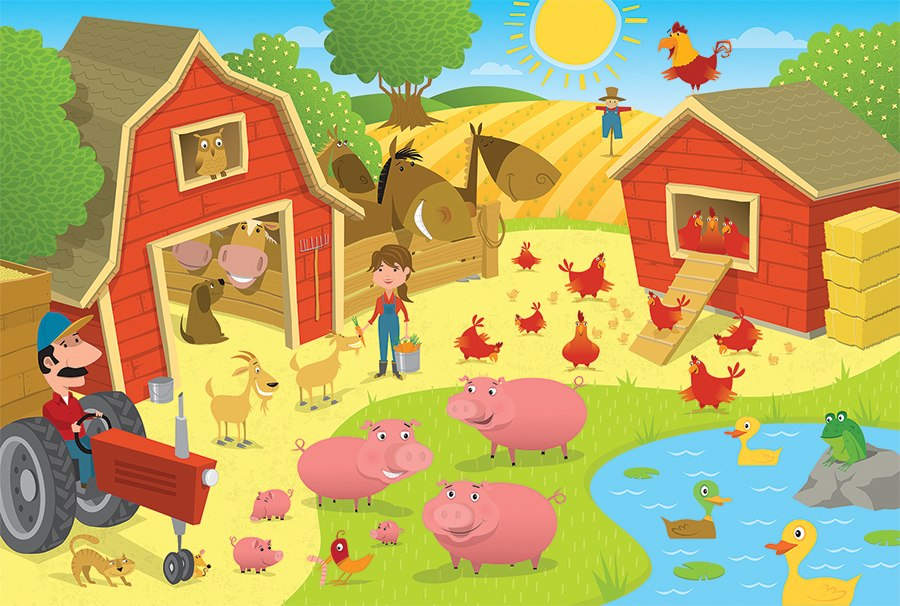 Pig Pen - 35pc Tray Puzzle by Cobble Hill