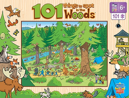 101 Things to Spot in the Woods - 101pc Jigsaw Puzzle by Masterpieces - image 1