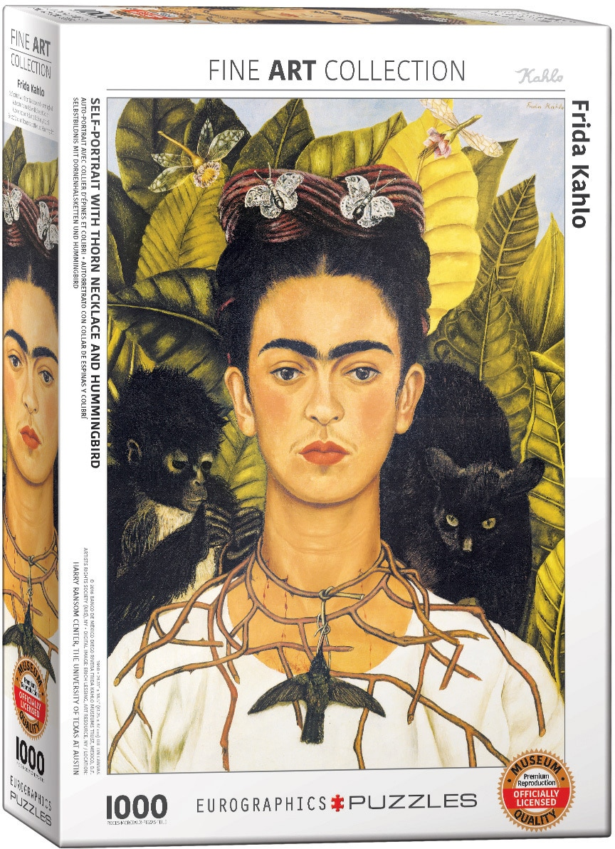 Frida Kahlo & Diego Rivera: Self-Portrait w/Thorn Necklace & Hummingbird - 1000pc Jigsaw Puzzle by Eurographics