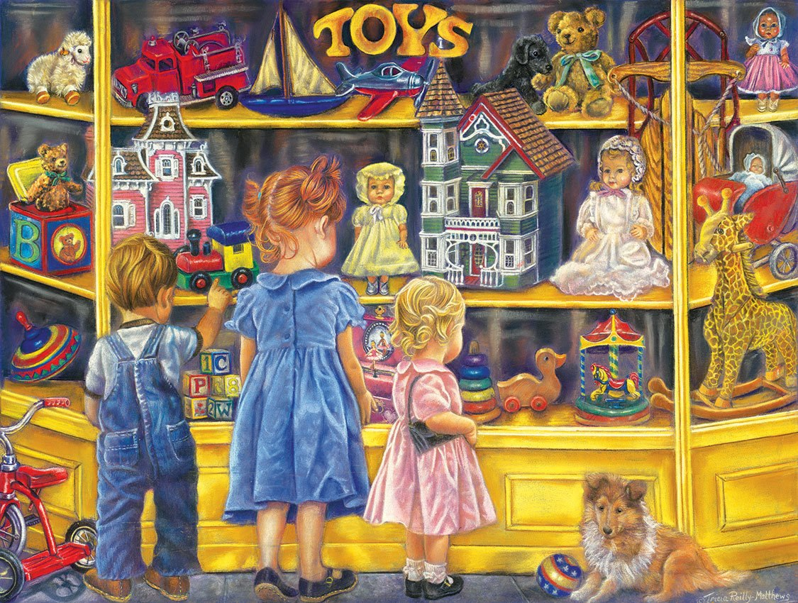Shopping for Toys - 300pc Large Format Jigsaw Puzzle by SunsOut