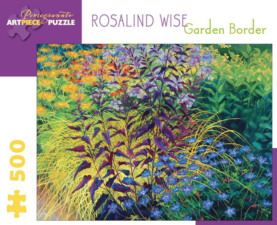 Rosalind Wise: Garden Border - 500pc Jigsaw Puzzle by Pomegranate