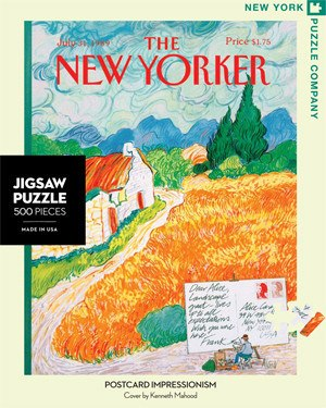Postcard Impressionism - 500pc Jigsaw Puzzle by New York Puzzle Co.